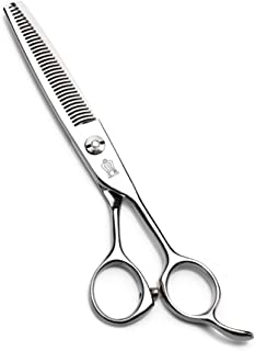 """SUIWO Hair Styling Scissors Stainless Steel Scissor for Hair Cutting Shears/Scissors and Barber Thinning/Texturizing Set-Size 6.0"""" Silver (Color : A10%)"""