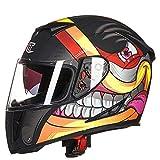 SHelterziyi Motorradhelm für Motorradfahrer Motorradhelm für Motorradfahrer face1 XL