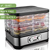 Best Beef Jerky Makers - Food Dehydrator Machine, Fruit Dehydrators with 5-Tray, Review
