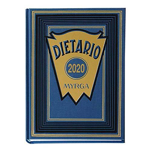 MYRGA 2111 Dietario 4º 2020, Día Página, Azul, 21,5 x 15 cm
