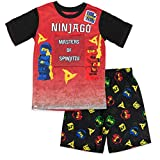 LEGO ニンジャゴー ボーイズ 2ピースショーツパジャマセット 半袖トップとショートレッグボトム ポリエステル100% ボーイズパジャマサイズ 4~10 US サイズ: LEGO NINJAGO Boy's Pajama