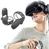Needediy Oculus Quest 2 VR-Zubehörsatz, Verstellbarer Armband, Touch-Controller, Handgriffschutzabdeckung, Anti-Fall-Handgriffschutzabdeckung Zubehör