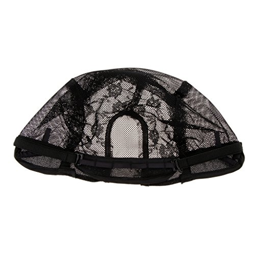 Toygogo Casquettes élastiques De Perruque, Perruque De Cheveux Noirs Tissant Le Chapeau Extensible De Maille De Filet, Casquettes élastiques De Snood
