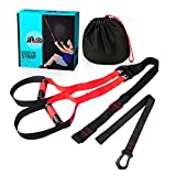 HXSD Powerlifting Suspension Résistance Sangles De Suspension Ceinture De Formation Bands Entraînement Sport Fitness Equipements Fitness,Rouge