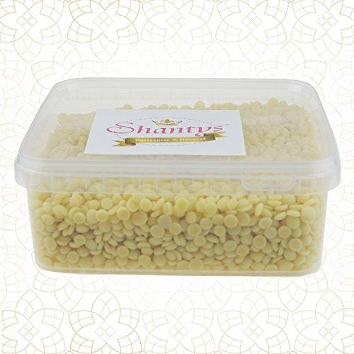 Shantys Patisserie & Dessert Kakaobutter Drops - NEUTRAL, 1000 g