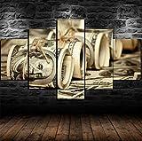 Glfeng No Enmarcado 100 dólares Billetes de Banco Money Roll 5 Panel Lienzoimagen impresión de la Pared Arte de la Pared Pintura de la Pared Decoración de la Pared para la Sala de Estar-1