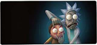 Extended Mouse Pad Large Mousepad for Game, 35.4 × 15.7 inch Stitched Edge and No-sliped Large Desk Pad with Smooth Surface,No- Sliped Full Desk Mat-Rick and Morty XL Keyboard and Mouse pad