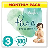 Pampers Pure Protection Lot de 180 sachets de 3 6-10 kg