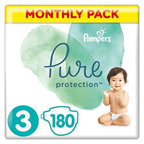 Pampers Pure Protection Lot de 180 sachets de 3 6-10 kg