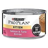 Purina Pro Plan Grain Free Pate Wet Kitten Food, Salmon & Tuna Entree - (24) 3 oz. Pull-Top Cans