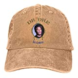 Photo de Yuanmeiju Dr Dre Retro Sports Denim Cap Adjustable Snapback Casquettes Unisex Plain Baseball Chapeau de Cowboy Black
