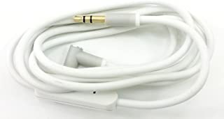 Replacement Aux Cord Extension Cable Wire with Mic Compatible with Beats by Dre Solo 3 2 / HD/Studio 3 2 /Pro/Detox/Wireless/Mixr/Headphones.iPods, iPhones, iPads. (White with mic)