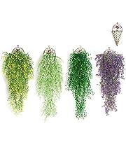Yiteng ウォールグリーン 壁掛け フル リーフグリーン 観葉植物 造花 リアル 人工観葉植物 植物マット 癒し 装飾 飾り 芝生 40cm×60cm