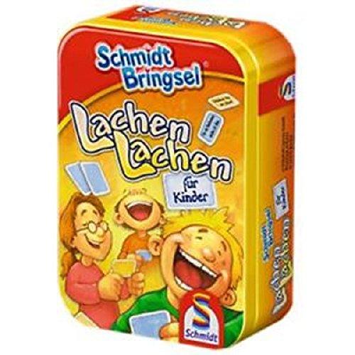 Schmidt Bringsel 51055 - Auswahl eines Spiels (Lachen lachen, Mensch ärgere dich nicht, Schiffe versenken, Kniffel, 50 Würfelspiele, Stadt Land Fluß)