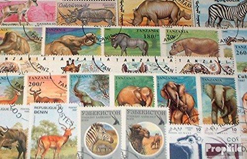 Prophila Collection Afrika 50 Verschiedene Afrikanische Tiere Briefmarken (Briefmarken für Sammler) Säuger Sonstige
