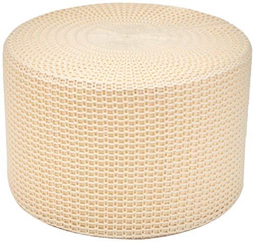 AmazonBasics Knit Foam Floor Pouf Ottoman, Beige