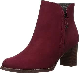 Women's Leather Block Heel Ankle Boot
