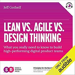 Lean vs Agile vs Design Thinking audiobook cover art