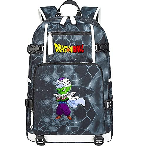 ZZGOO-LL Dragon Ball Son Goku/Vegeta IV Bolsa de Hombro Mochila para Exteriores para un montón de Almacenamiento Bolsa USB Unisex-G