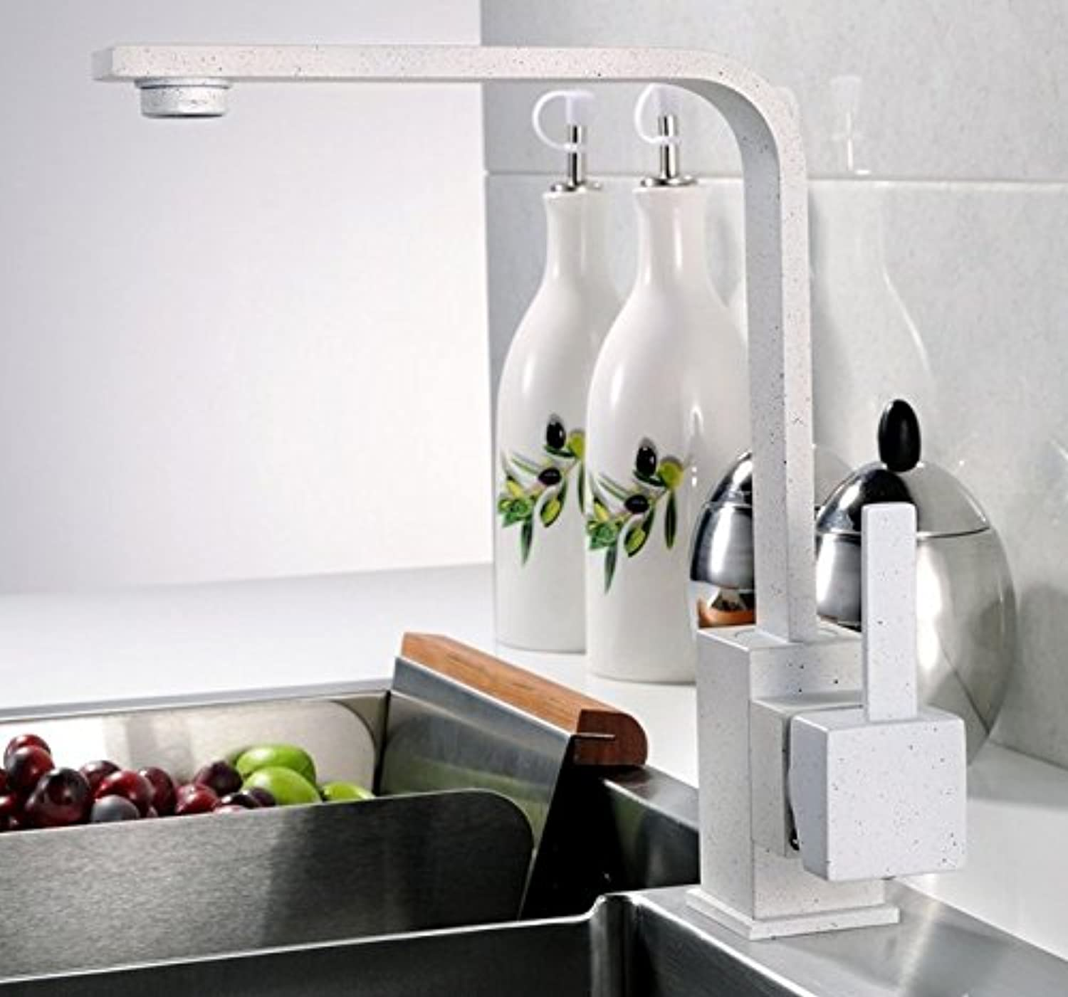 Mangeoo Faucet All Copper Hot And Cold Kitchen Quartz Quartzite Granite Can Turn White Water Faucet.