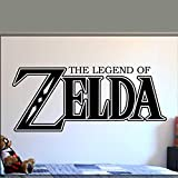 zhuziji Juego de Pegatinas de Pared Legend of Video Game Gamer Teen Letters Wallvinyl PVC Fondo Impermeable Autoadhesivo Kindergarten, Apartamento Etiqueta de la Pared Dec99x42cm
