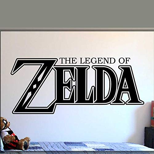 yaonuli Game Legends Legend Wall Decal Vinyl Video Game Player Room Wall Sticker Extraible Youth Bedroom Letters Decoration Wallpaper 104X45cm