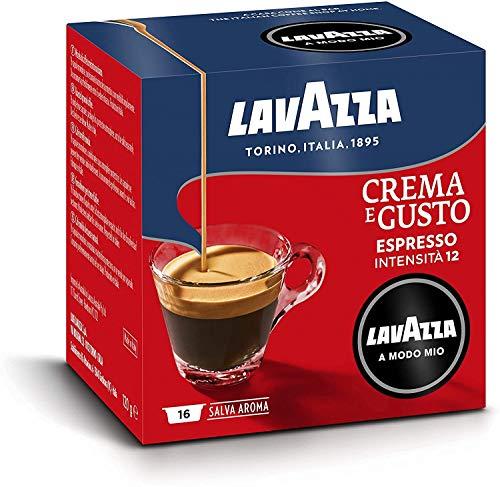 Lavazza A Modo Mio 128 Capsule Caffè Crema e Gusto, 8 Confezioni da 16 Capsule, Miscela Selezionata, Gusto Intenso (Capsule Lavazza Originali)