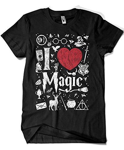 3457-Camiseta Premium, I Love Magic (Dr.Monekers)
