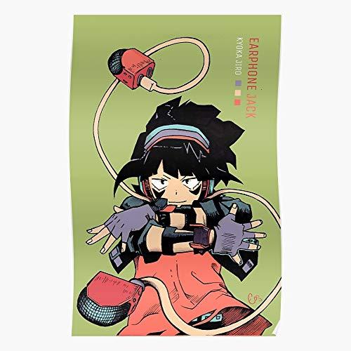 My Kyoka Mha Hero Jiro Jack Manga Academia Anime Mangaart Earphone for Home Wall Decor Ready to decoration