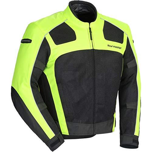 Tour Master Draft Air 3 Men's Street Motorcycle Jacket - Hi-Viz/Black / 2X-Large