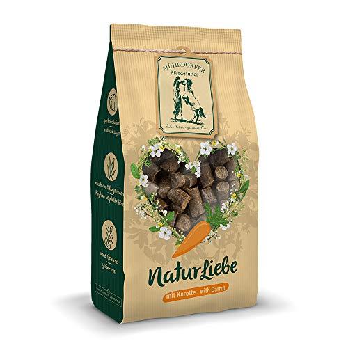 Mühldorfer NaturLiebe Karotte, 1 kg, naturgesunde Leckerli für Pferde, getreidefrei, ohne Melasse und Zusatzstoffe, zucker- und stärkereduziert