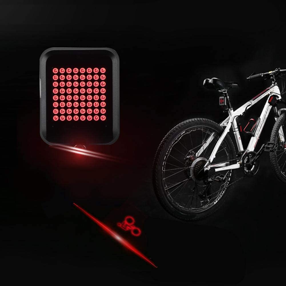 1200mAh LED Bike Warning Taillight Bike Lights Front and Back Turn Signal for Gifts Black Keenso Bicycle Light