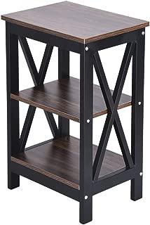 3-Layer Shelf Nightstand Bed Side Table,Bedroom Creative Tea Table Sofa End Table Storage Rack,America Warehouse Shipment
