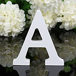 Decorate wooden letters. Creative baby shower activity.