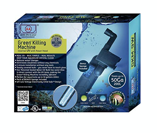 AA Aquarium GKM 9W Green Killing Machine Interner UV-C Klärer mit Pumpenkopf