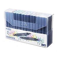 マーカーペンセット マーカーブラックロッドホワイトロッドジェルペンスタンダードセット1224 36 4860ボックス手描きデザイン セラミックなどの表面にフィット (Size:Onesize; Color:60)