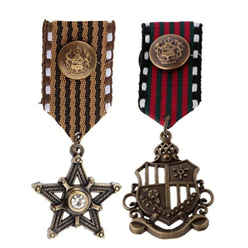 F Fityle 2pcs Mens Cosplay Party Medal Fancy Dress Costume American Navy Ramillete