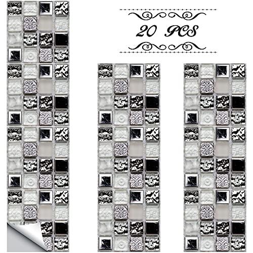 Xnuoyo Autoadhesiva Etiqueta Engomada del Azulejo de la pared, Los Adhesivos para Azulejos se Pueden Reutilizar Pegatinas para Paredes de Azulejos de Cocina y Baño(15CM*15CM)