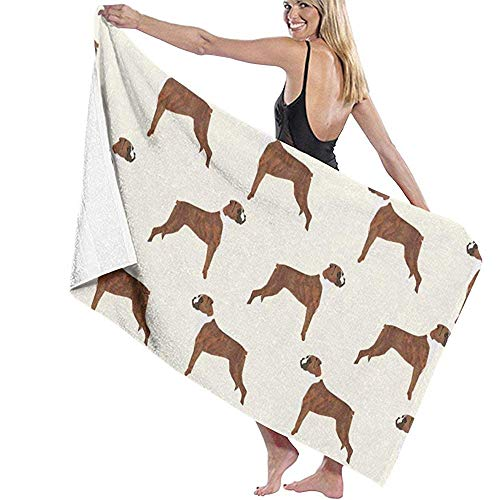 Patrón de Perro Boxer Amante de los Perros Toalla de Playa Impresa para Mascotas Silla Gruesa Suave Absorbente de Secado rápido