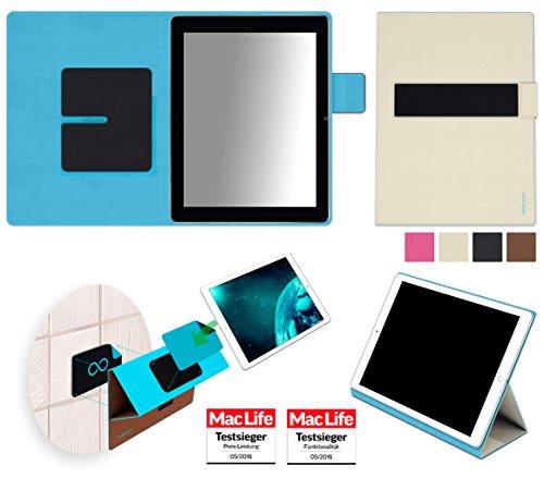 reboon Hülle für Blaupunkt Endeavour 1000 HD Tasche Cover Hülle Bumper | in Beige | Testsieger
