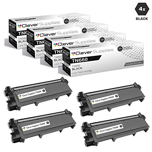 CS Compatible Toner Cartridge Replacement for Brother TN660 TN630 TN-660 TN-630 TN 630 Jumbo HIGH Yield 4 Black for DCP-L2520DW DCP-L2540DW HL-L2320D HL-L2340DW HL-L2360DW MFC-L2680W MFC-L2685DW -  Clever Supplies, CS-TN660/TN630-4BK