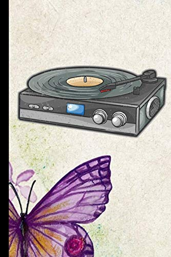 Vinyl Record Player: Phonograph Disc Record Gift For Musicians (6x9) Music Notes Paper To Write In