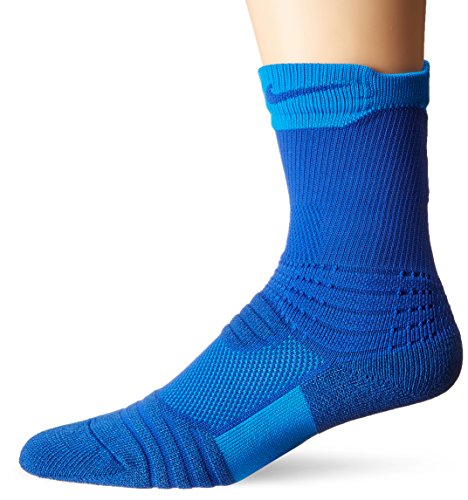 Nike Elite Versatility Crew Basketball Sock Game Royal/Photo Blue/Game Royal X-Large
