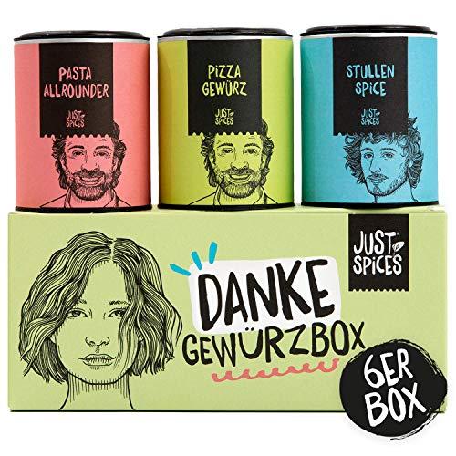 Just Spices Danke Gewürzbox I 6 der besten Gewürze in einer Box I Geschenk für Männer und Frauen