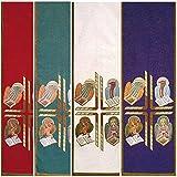 Holyart Voile de lutrin 4 évangélistes, Vert...