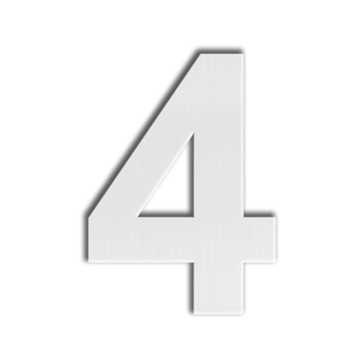 Large 5 Inch QT Modern House Number Easy to Install and Made of Solid 304 Floating Appearance Letter a Brushed Stainless Steel