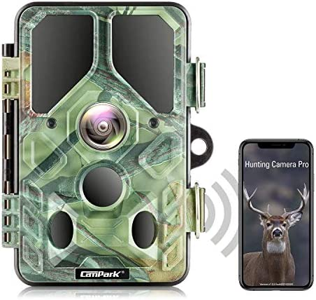 Campark WiFi Bluetooth Trail Camera 20MP 1296P with 940nm IR LEDs Night Vision Motion Activated product image
