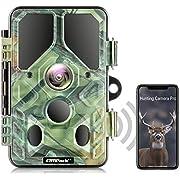 Campark WLAN Wildkamera 20MP 1296P, WiFi Bluetooth No Glow Night Vision 940nm Wildtierkamera mit Nachtsicht Wildlife Jagdkamera, Überwachungswinkel Bewegungserkennung IP66 Wasserdicht