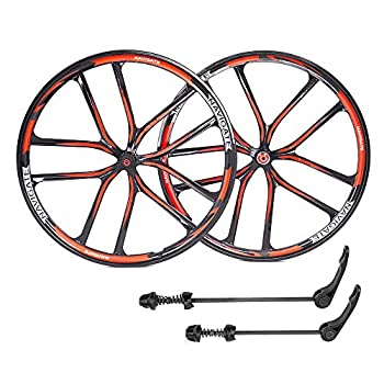 ZUKKA 29Inch Bike Wheel Set,Magnesium Alloy Disc Brake Mountain Cycling Wheels/Fit for 7-10 Speed Freewheels/Quick Release Axles Bicycle Accessory