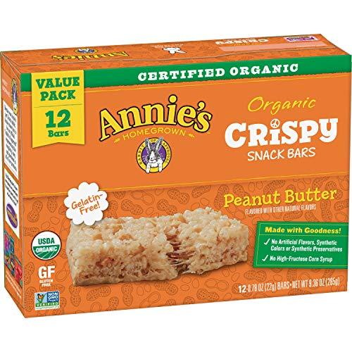 Annie's Peanut Butter Crispy Snack bar, 12 ct